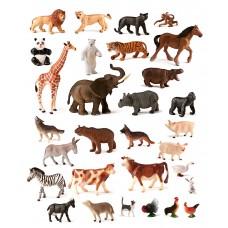 ANIMALES SALVAJES Y GRANJA 30 UNID  25140