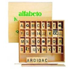ALFABETO MADERA (10 CONSONANTES,25 VOCALES)