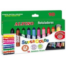 ROTULADOR ALPINO SUPERCOLOR C/ 10