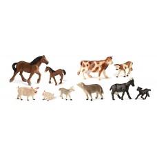 ANIMALES GRANJA 10 FIGURAS   Rf 27430