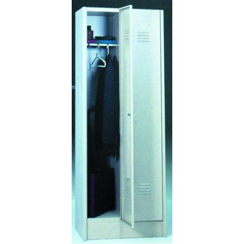 Armario ropero 1 puerta 180x33x46 for Perchas adhesivas para puertas