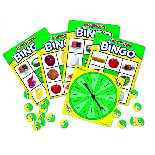Bingo en ingl s la comida for Material de oficina en ingles
