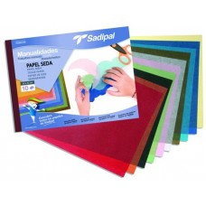BLOCK PAPEL SEDA 10 COLORES