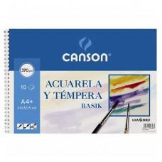 BLOC  DE  DIBUJO   ACUARELA  A-3  10H  CANSON