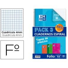 PACK DE 4+1 GRATIS  CUADERNO ESPIRAL TAPA PLASTICO  400091365