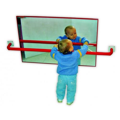 Espejo infantil con marco de madera lacada 120x50 for Espejo 120 x 50