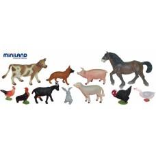 BOTE DE 11 ANIMALES DE GRANJA  REF-27420