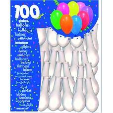 BOLSA DE 100 GLOBOS BLANCOS