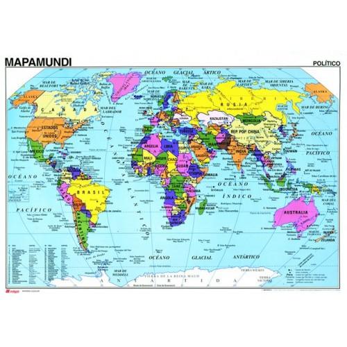 Mapa mural mapamundi f politico - Mural mapa mundi ...