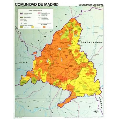 Mapa mural comunidad de madrid f p for Oficinas de registro de la comunidad de madrid