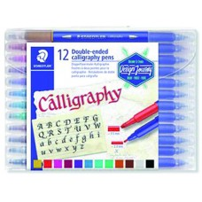 ROTULADOR DOBLE PUNTA CALLIGRAPHY 12 COLORES